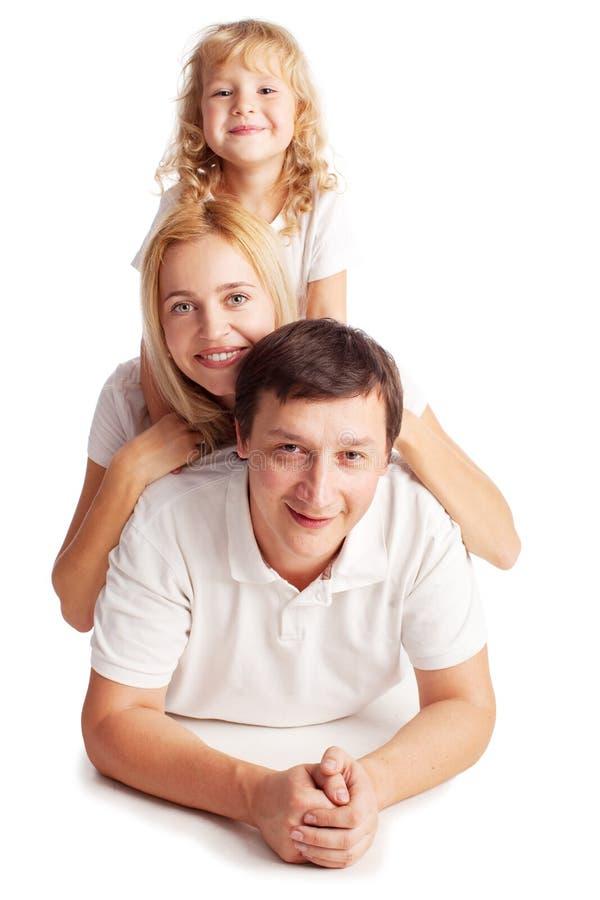 母亲、父亲和女儿 库存照片