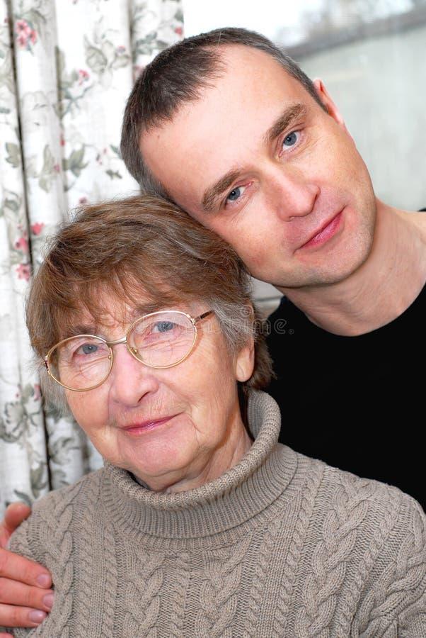 母亲儿子 库存照片