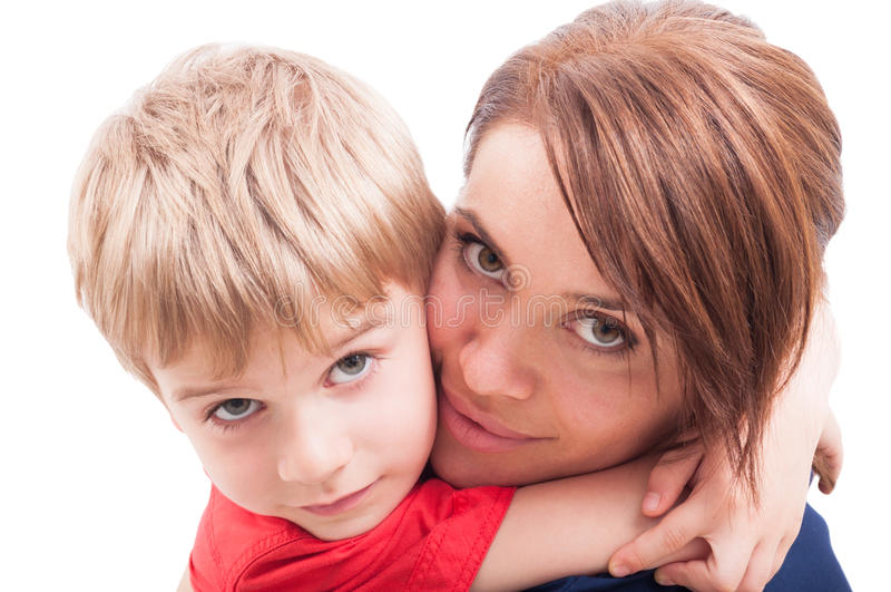 母亲儿子 免版税库存照片