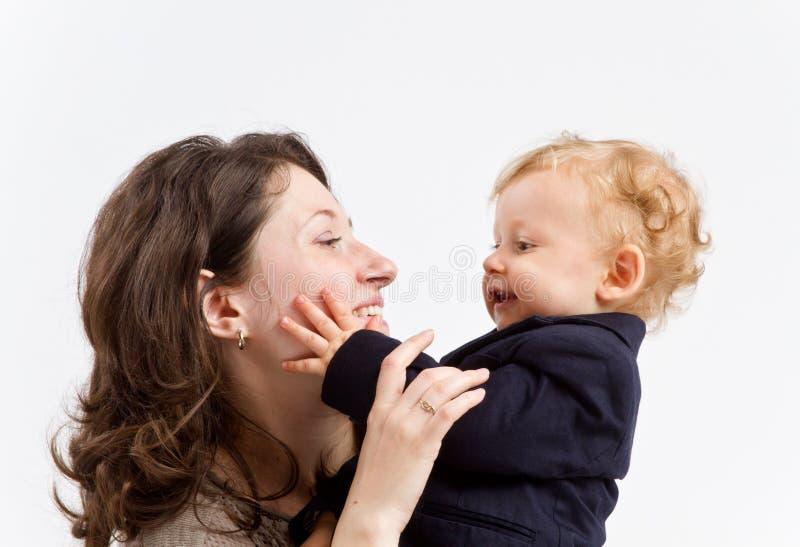 母亲和儿子 免版税库存照片