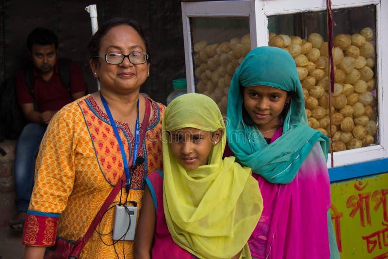 母亲和女儿在印度 免版税库存图片