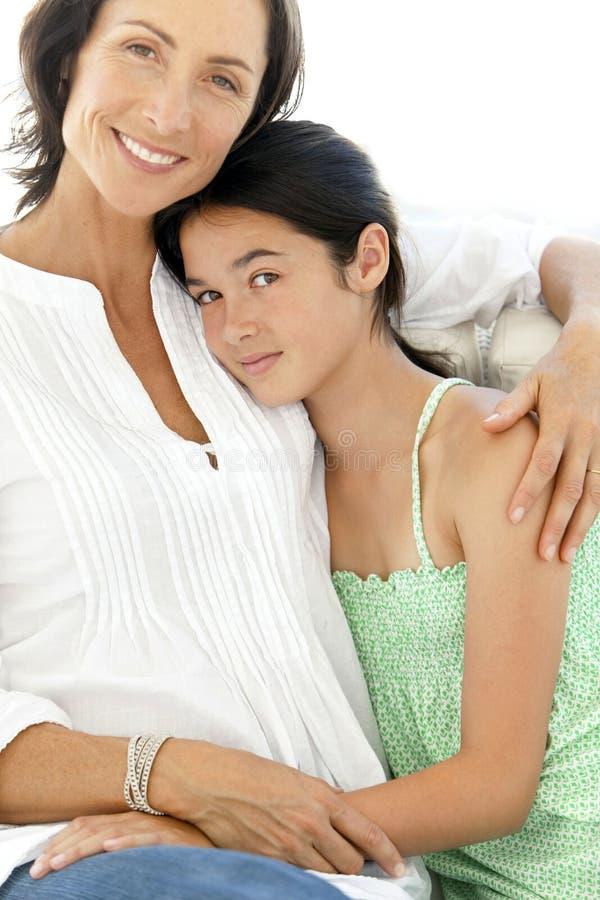 母亲和女儿-画象 库存图片