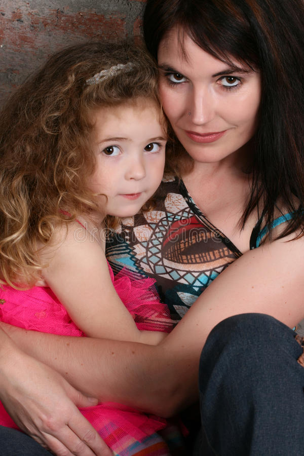 母亲和女儿 库存图片