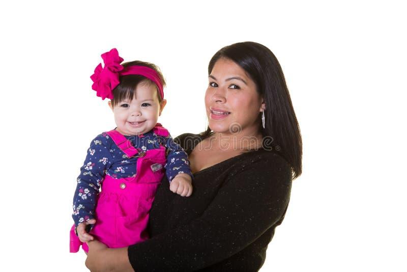 母亲和她的小女儿 免版税库存图片