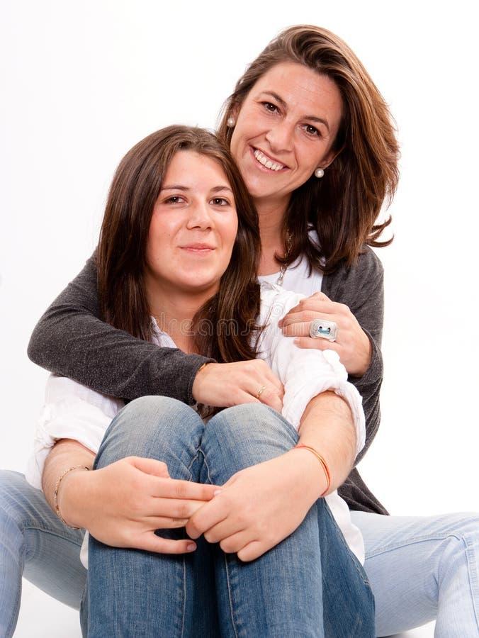 母亲和少年 免版税库存图片
