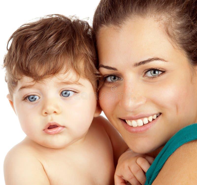 母亲和男婴 库存照片
