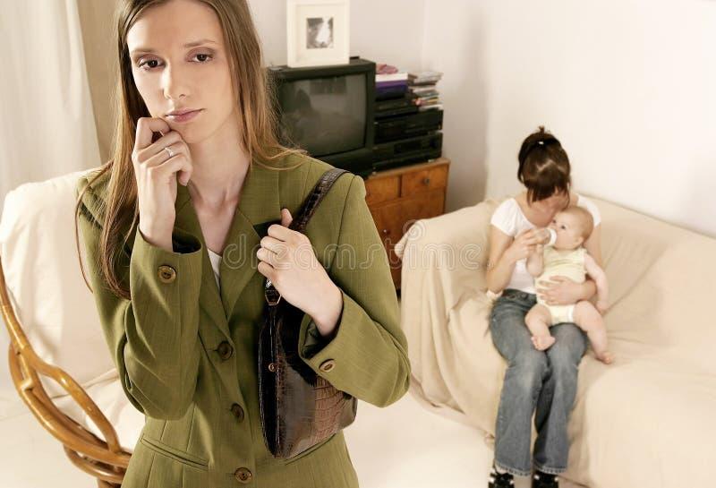 母亲工作 免版税图库摄影
