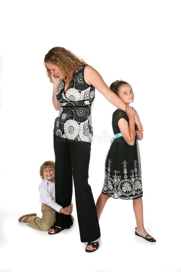 母亲电话专业人员 免版税库存照片
