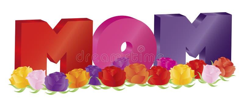母亲节与玫瑰例证的妈妈字母表 皇族释放例证