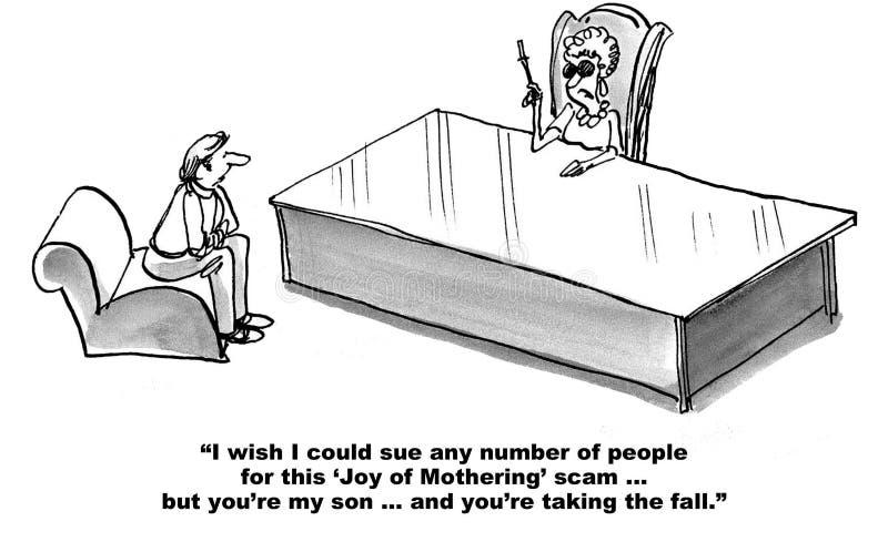 母亲起诉儿子 向量例证