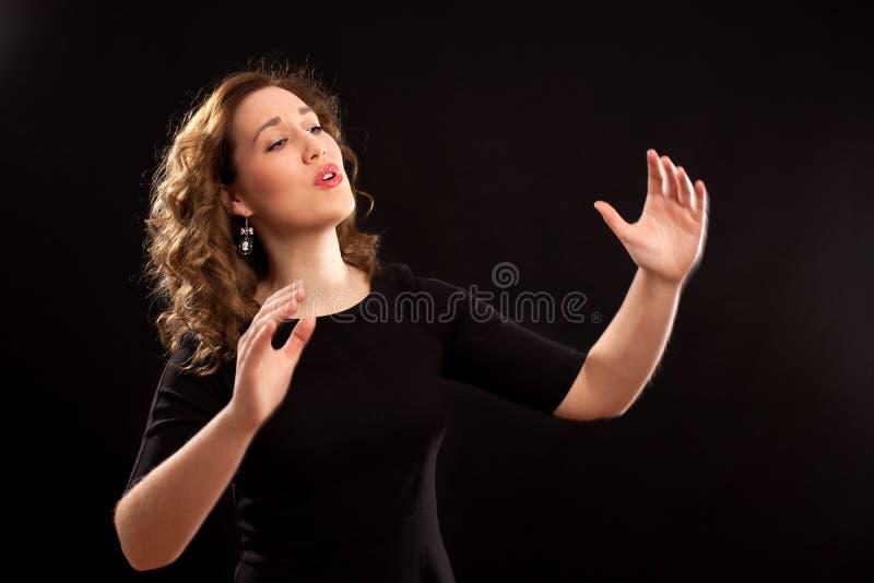 母唱诗班指挥 图库摄影