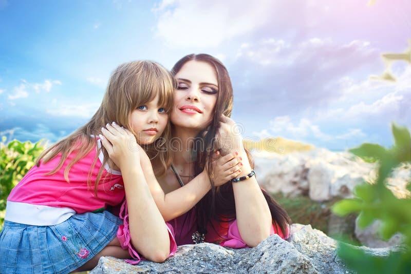 母性乐趣 免版税图库摄影