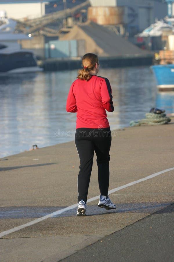 母慢跑者 免版税库存照片