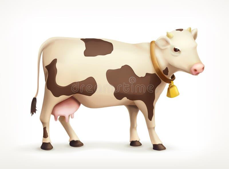 母牛传染媒介象 皇族释放例证