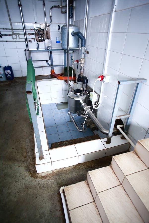 母牛农厂牛奶绝育部件 图库摄影