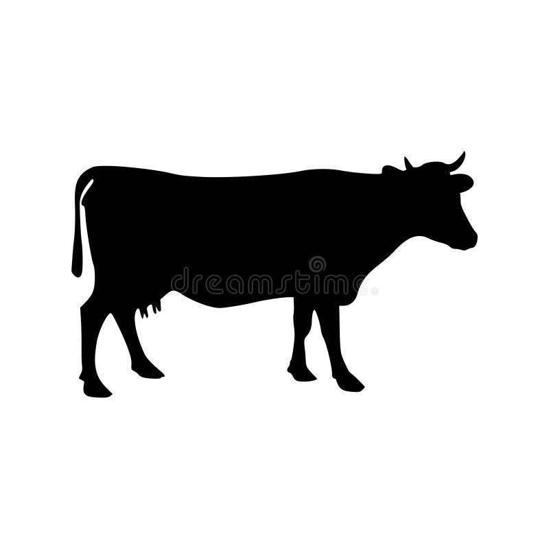 母牛剪影象 向量例证
