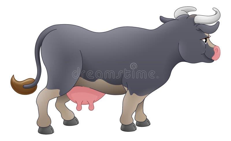 母牛动物卡通人物 向量例证