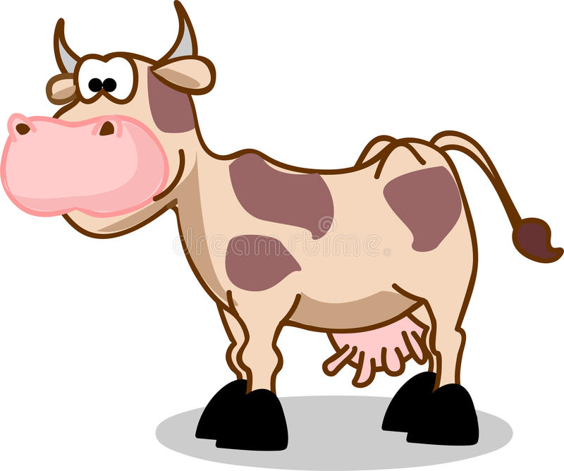母牛向量 库存例证
