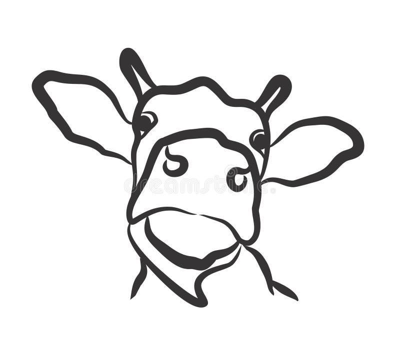 母牛商标 向量例证