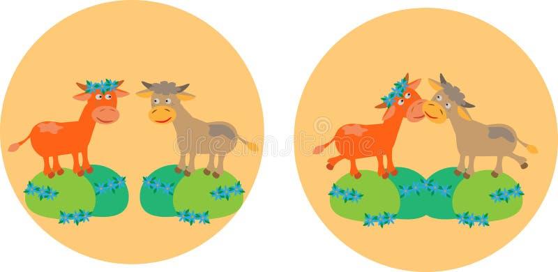 母牛域草甸二 皇族释放例证