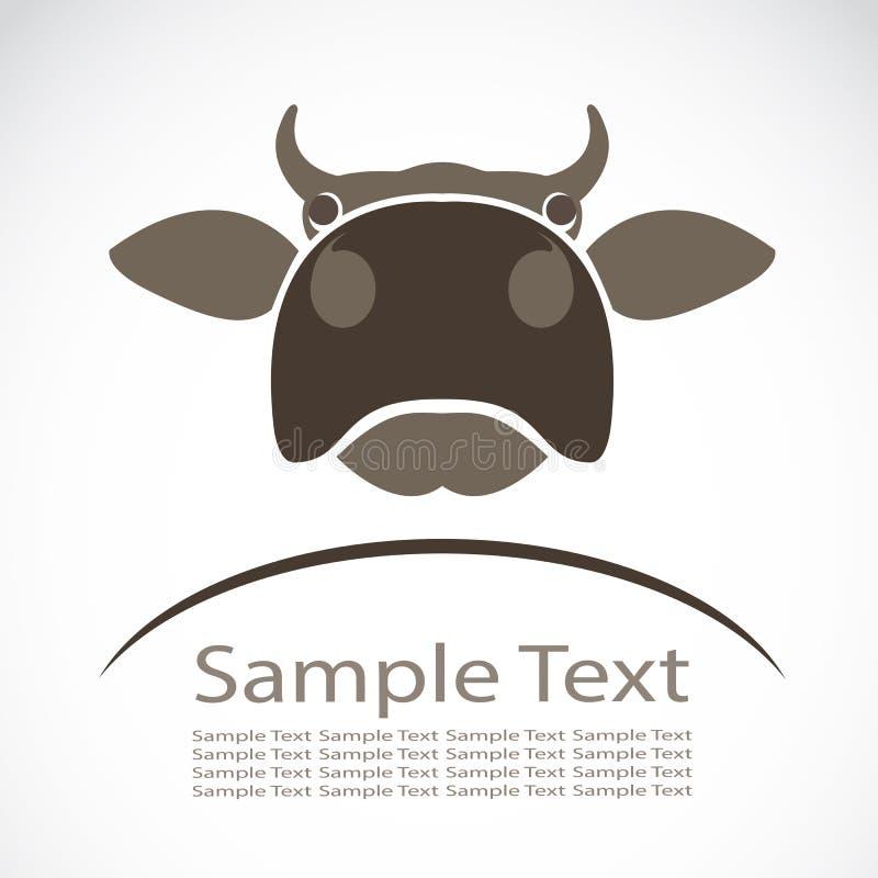 母牛的传染媒介图象 库存例证