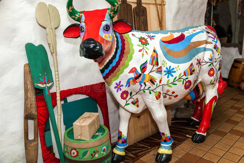 母牛的雕塑 库存图片