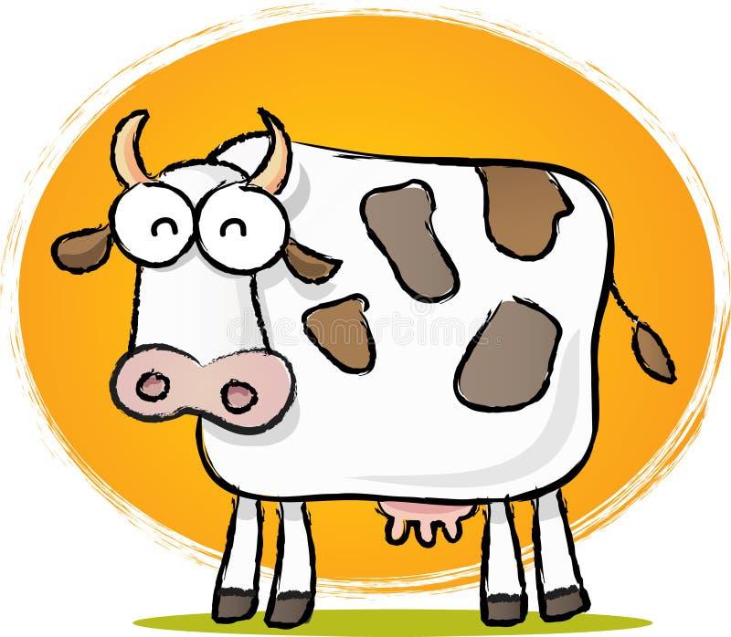 母牛草图 库存例证