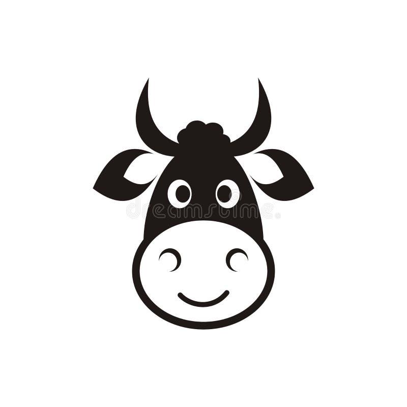 母牛顶头象 库存例证