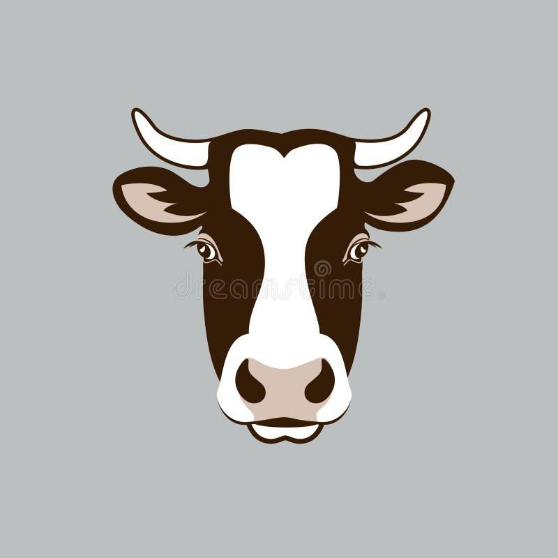 母牛头 向量例证