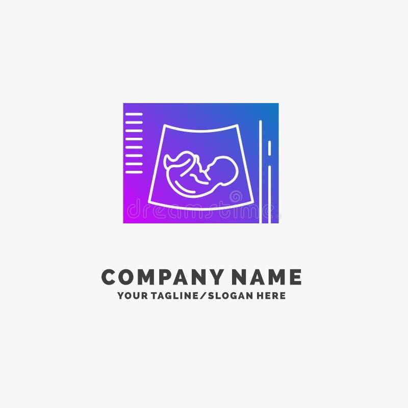 母道,怀孕,语图,婴孩,超声波紫色企业商标模板 r 皇族释放例证