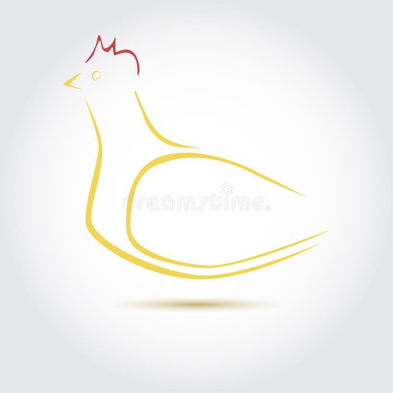 母鸡的风格化传染媒介图象 皇族释放例证