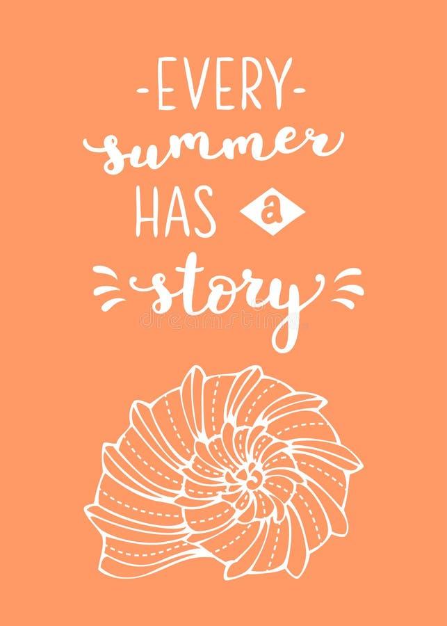 每个夏天有一个故事 皇族释放例证
