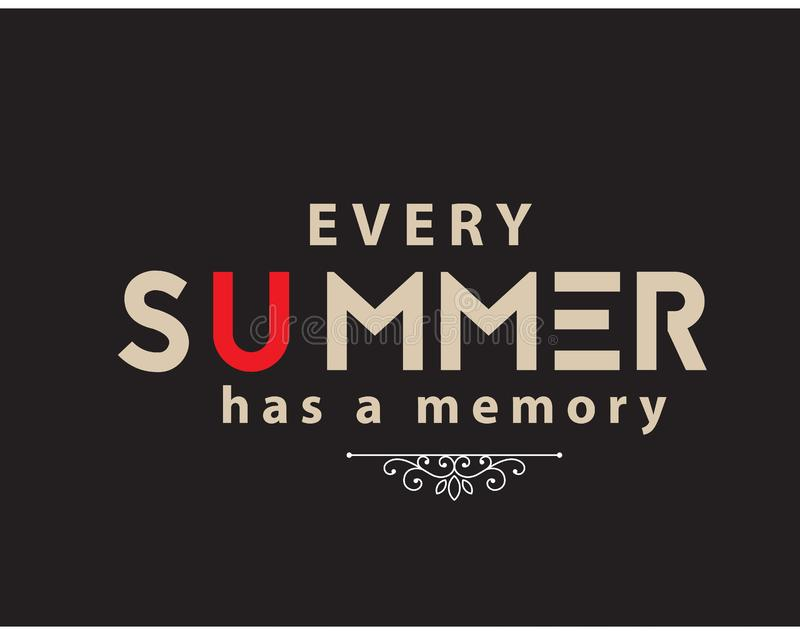 每个夏天有记忆 库存例证