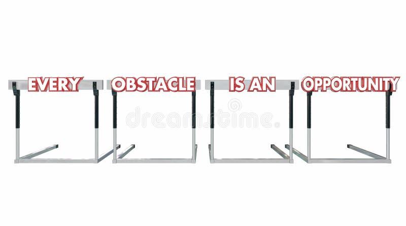 每个障碍是机会障碍挑战 皇族释放例证