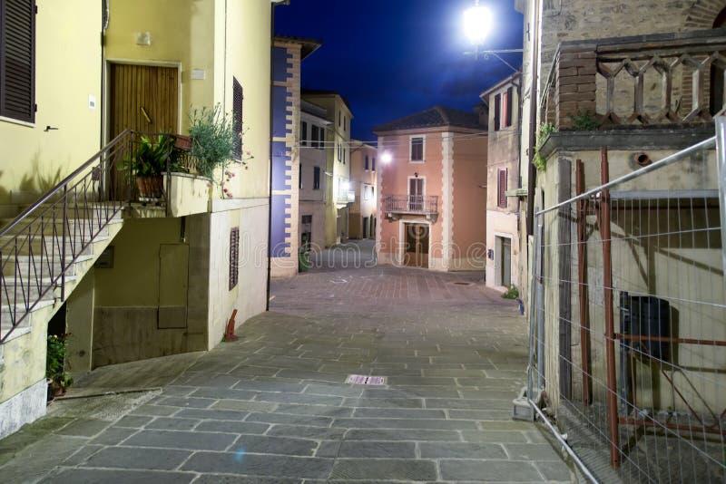 每夜的街道视图 库存照片