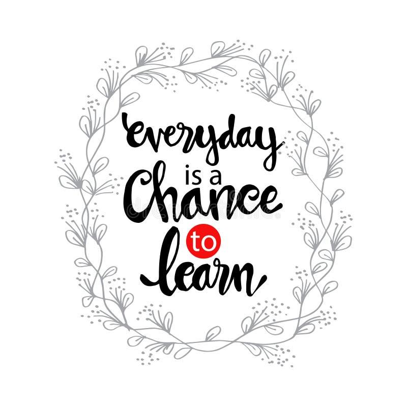 每天机会学会 库存例证