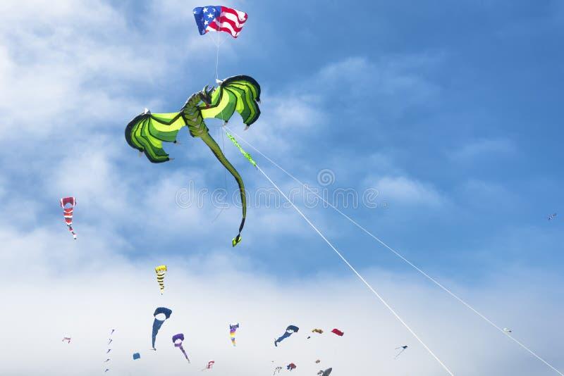 每年风筝飞行节日 库存图片
