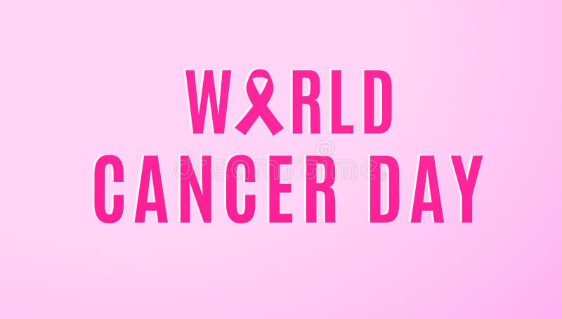 每年2月4日团结它的力量的一起人类立场反对癌症 皇族释放例证