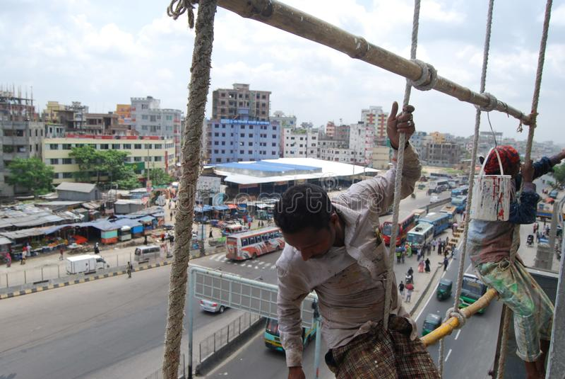 每日工作者达卡孟加拉国 免版税库存图片