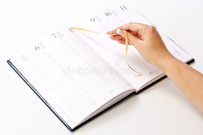 每日计划程序 库存照片