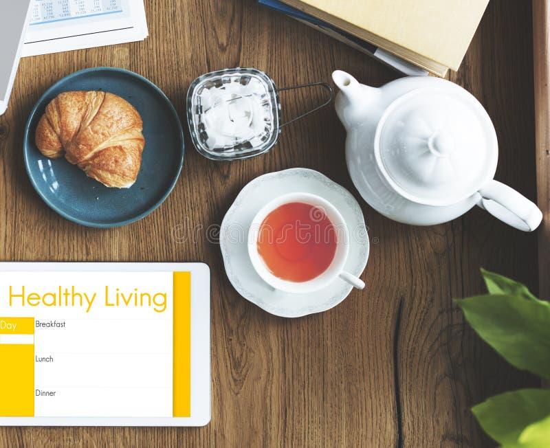每日饮食营养健康概念 库存照片