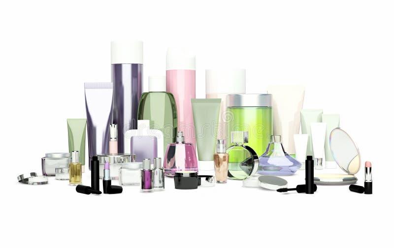 每日,秀丽关心化妆用品和构成产品 面霜, ey 皇族释放例证