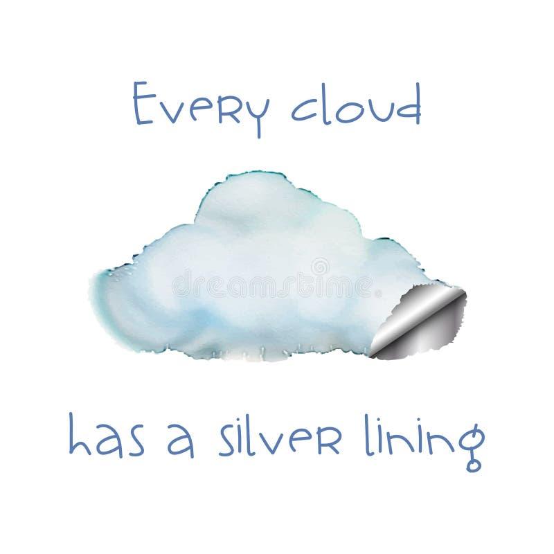 每朵云彩 向量例证