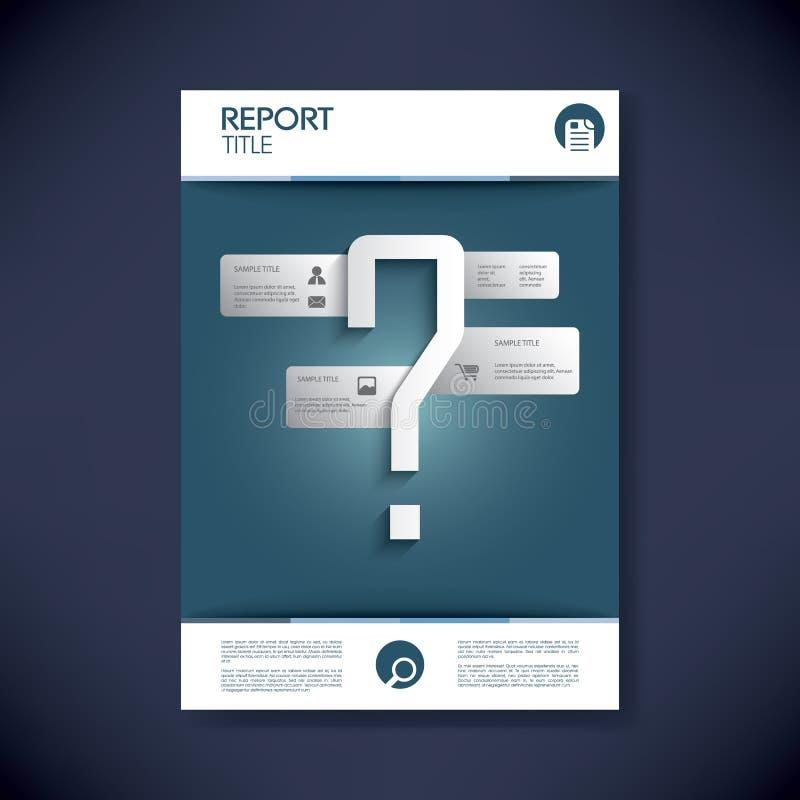 每年业务报告盖子适当也为 库存例证