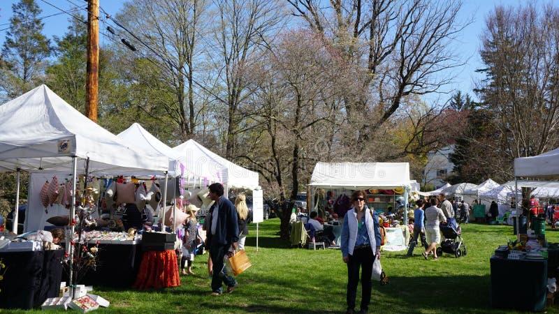 每年山茱萸节日在费尔菲尔德,康涅狄格 免版税库存照片