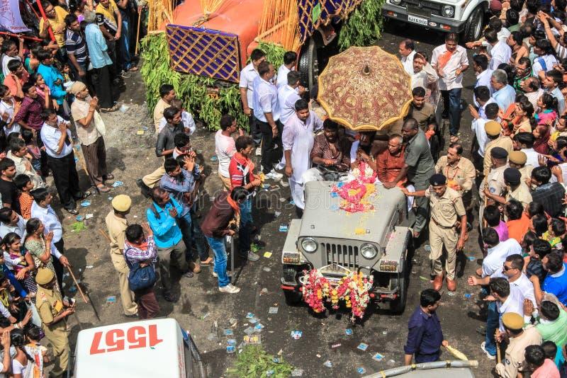 每年游行的印度圣徒 库存图片