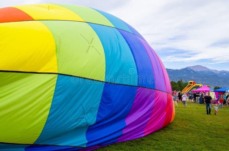 每年科罗拉多泉劳动节离地升空 免版税图库摄影