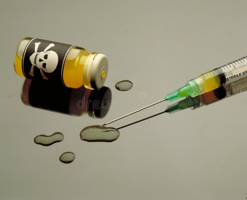 毒性一次用量的针剂 库存图片
