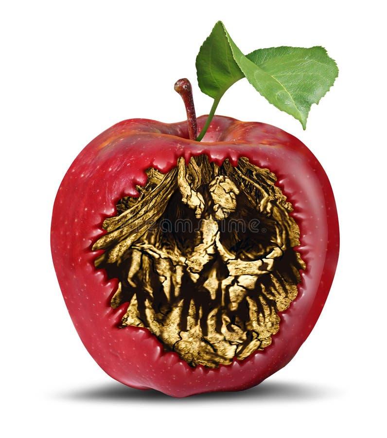 毒物苹果计算机标志 免版税图库摄影
