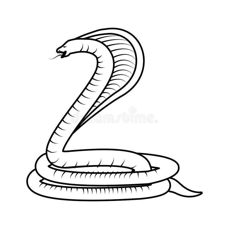 毒眼镜蛇蛇 库存例证
